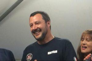 Salvini a Lecco: contromanifestazione delle Sardine