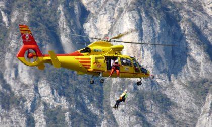 Caduta in montagna: elisoccorso in azione