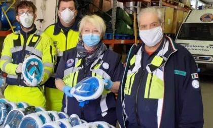 Coronavirus: la Protezione civile smista le maschere da snorkeling