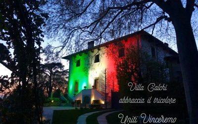 Villa Calchi si illumina del tricolore