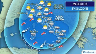 48 ore di pieno inverno con freddo e neve