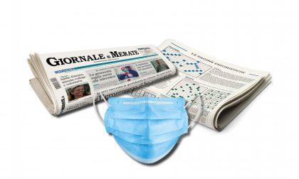 Una mascherina insieme al Giornale di Merate ancora in edicola!