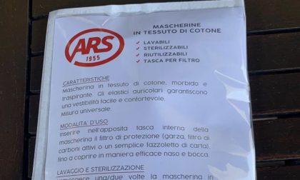 L'Ars Rovagnate dona 1000 mascherine all'Unione dei Comuni della Valletta