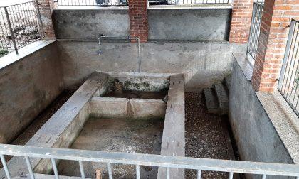 Dopo le asfaltature nel lavatoio di Campolasco torna l'acqua FOTO