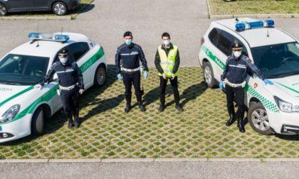 A Merate la Polizia locale controlla gli spostamenti con il drone FOTO