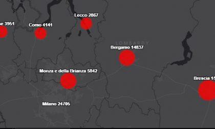 Coronavirus: ecco dove sono aumentati i casi nel Lecchese nell'ultima settimana