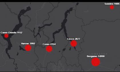 Coronavirus: ecco dove sono stati registrati gli ultimi aumenti nella nostra provincia