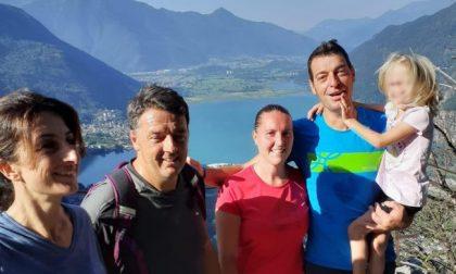 Matteo Renzi si rilassa in Valchiavenna dopo il voto sul Processo Open Arms