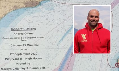 Impresa di Oriana: attraversa a nuoto La Manica in 10 ore e 19 minuti. E' record italiano