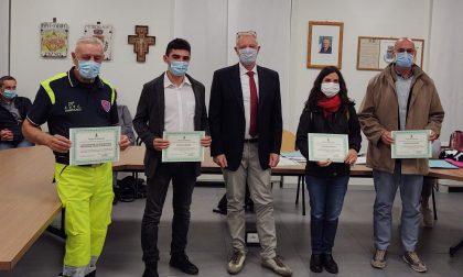 Volontari Covid premiati dal Consiglio comunale - FOTO