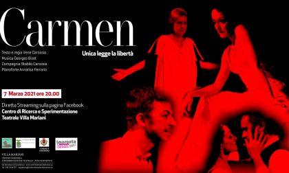 """""""Carmen"""", un nuovo spettacolo in diretta streaming a Villa Mariani"""