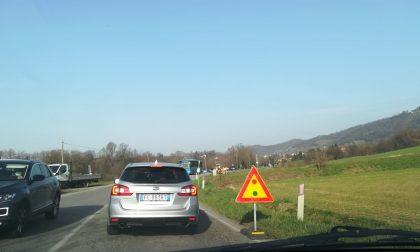 Montevecchia: code per lavori in corso al confine con Missaglia