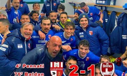 Serie D, il gol di Baldan consolida la Casatese al 2°. Brutto ko per il NibionnOggiono