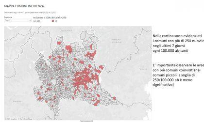 Zona arancione rafforzata in provincia di Brescia e in 8 comuni bergamaschi. Chiudono tutte le scuole. La cartina con i Comuni lecchesi a rischio