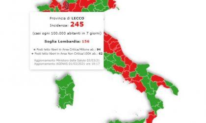 Scuole chiuse nei territori con 250 casi ogni 100mila abitanti. Provincia di Lecco vicina al limite