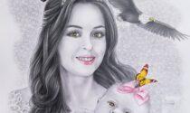 Missaglia: Gerry Scaccabarozzi omaggia la principessa dell'Albania con un'opera