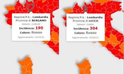 Covid: incidenza a Lecco ancora sopra 300 ma in calo. A Bergamo sotto quota 200