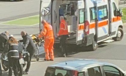 Incidente stradale, ferito un motociclista
