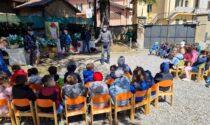 Il regalo degli Alpini alla scuola dell'infanzia Kramer di Cremella