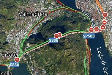 Chiuso il tunnel del Barro: traffico in tilt nel Lecchese