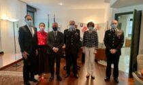 Il comandante interregionale dei Carabinieri Vincelli in visita al Prefetto di Lecco