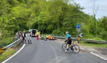 Incidente, motociclista trasportato in elicottero: è gravissimo