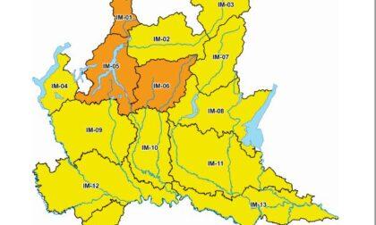 Allerta meteo arancione per rischio idrogeologico sul Lecchese