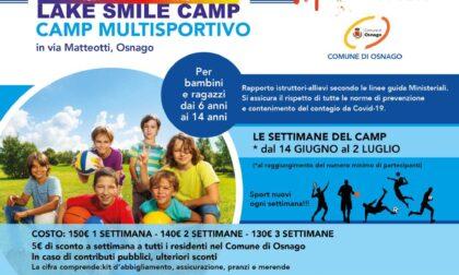 """""""Smile Lake Camp"""" e """"ViaggiAltrove"""", i camp estivi osnaghesi da lunedì 14 giugno"""