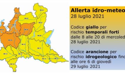 Allerta rischio idrogeologico e temporali forti fino a domani