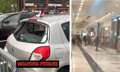 Ondata di maltempo sulla Lombardia: gli impressionanti video della grandine che rompe i vetri delle auto