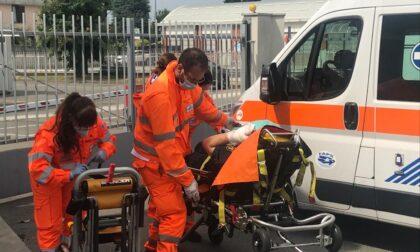 Guardia giurata si ferisce con la sua pistola, trasportato in ospedale FOTO