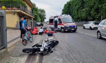 Scontro auto-moto: un uomo e una donna trasportati in ospedale FOTO
