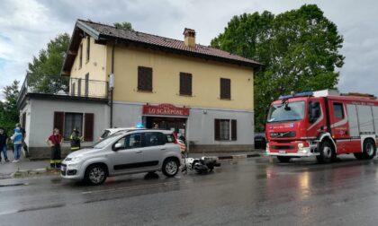 Incidente stradale, anziano ferito