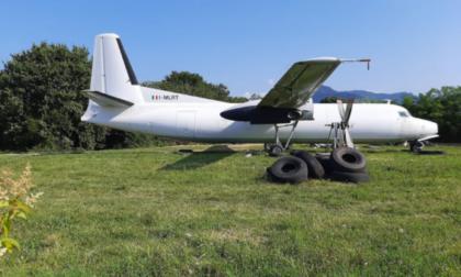 L'aereo portato via da Orio diventerà un b&b nel parco fluviale di Brembate Sopra