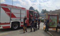 Incendio alle Meridiane, Vigili del fuoco in azione