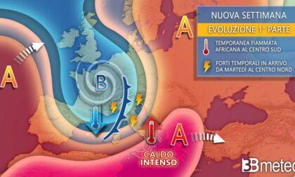 Da martedì brusco calo di temperatura e violenti temporali | PREVISIONI METEO