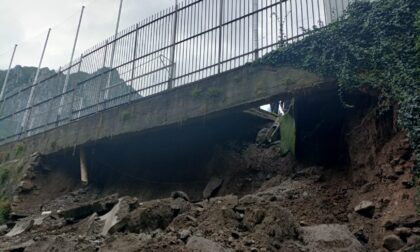 Maltempo: crolla un muraglione a Lecco, bomba d'acqua sulla Bergamasca