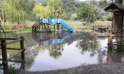 Esondato il fiume Adda ad Airuno