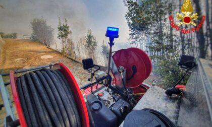 Spento il maxi incendio sulla collina di Montevecchia