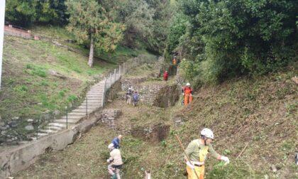 Alpini in Val Camoggia per la pulizia del torrente LE FOTO